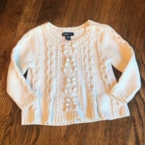 Baby Gap Oatmeal Chunky Cable Knit Sweater 18-24